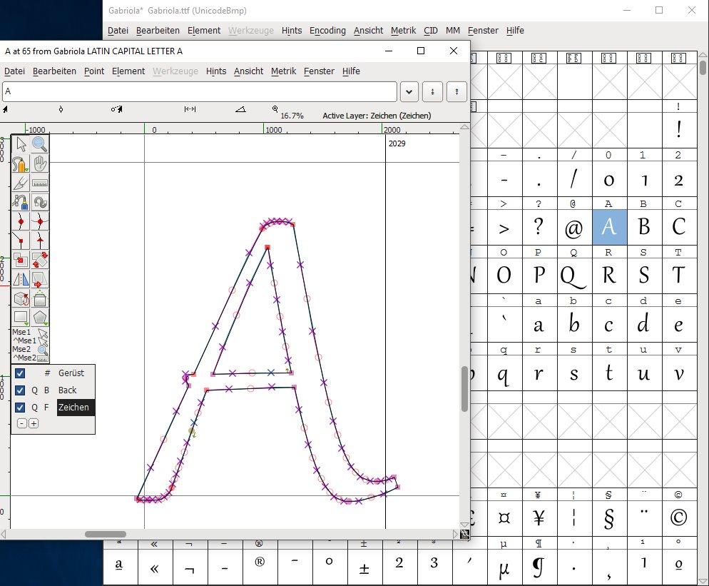 Vorschau FontForge - Font Editor - Bild 2