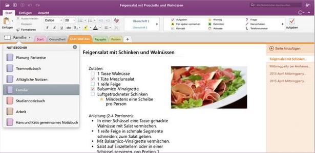 Vorschau Microsoft OneNote für Mac - Bild 2