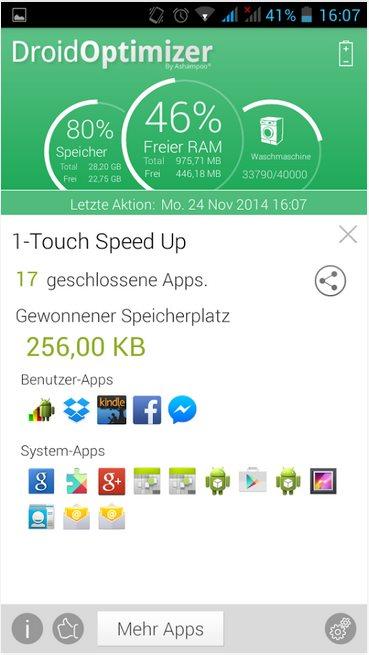 Vorschau Ashampoo Droid Optimizer für Android - Bild 2