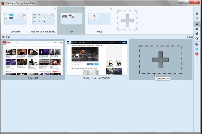 Vorschau Tabgruppen für Firefox - Bild 2