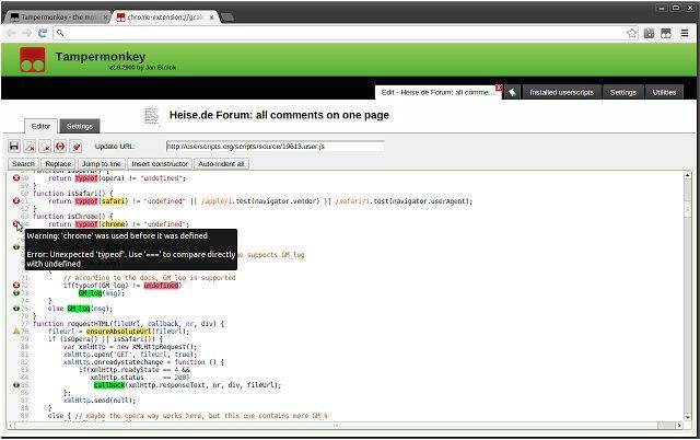 Vorschau Tampermonkey für Chrome - Bild 2