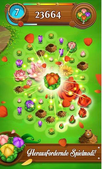 Vorschau Blossom Blast Saga für Android - Bild 2