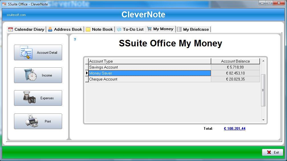 Vorschau SSuite CleverNote PIM - Bild 2