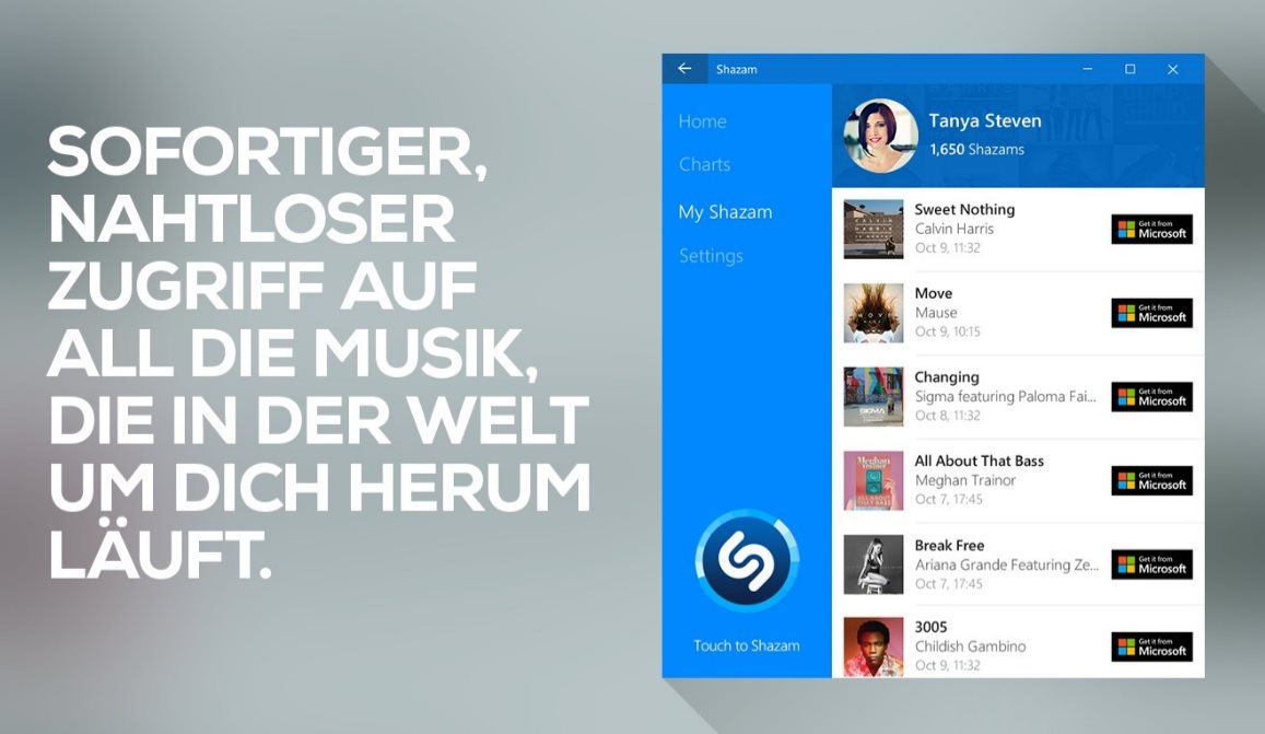 Vorschau Shazam für Windows 8 und 10 - Bild 2