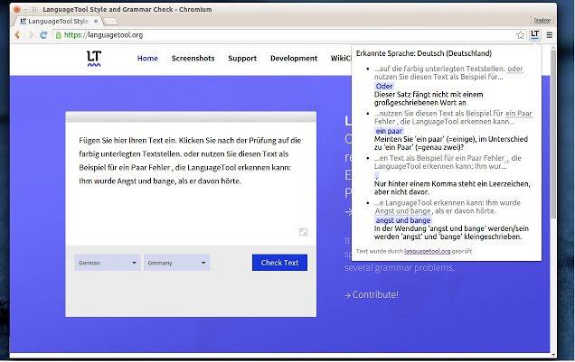 Vorschau LanguageTool für Chrome - Bild 2
