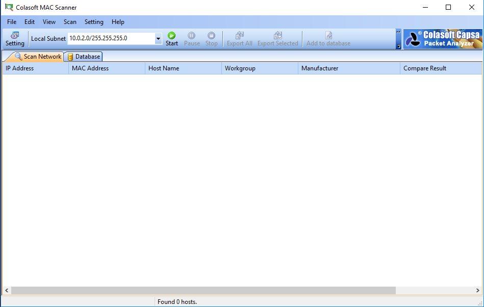 Vorschau Colasoft MAC Scanner Free - Bild 2