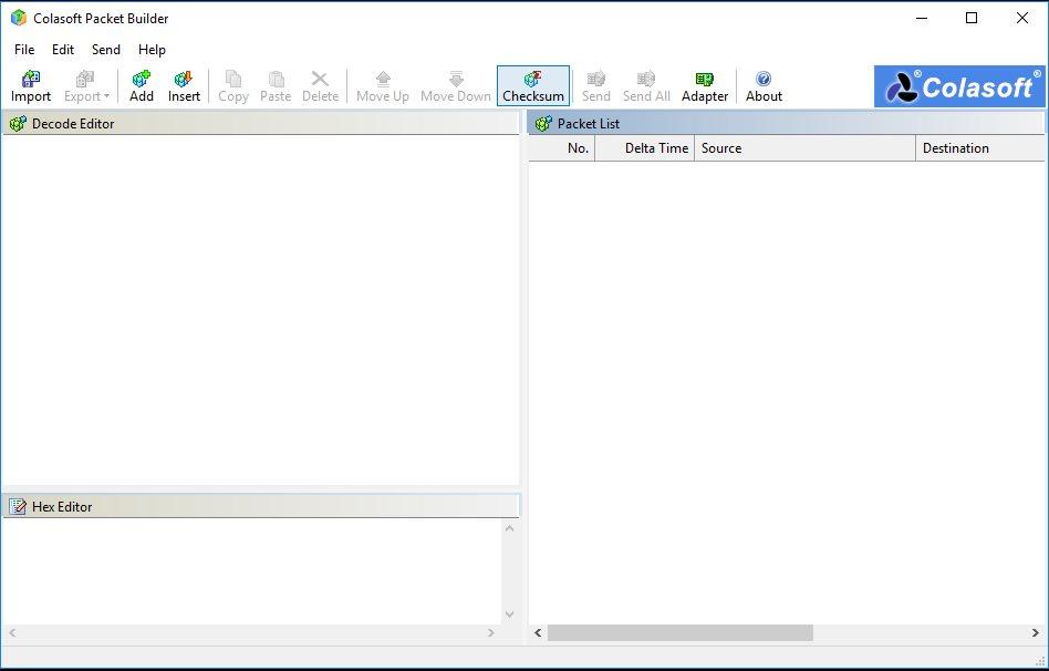 Vorschau Colasoft Packet Builder - Bild 2