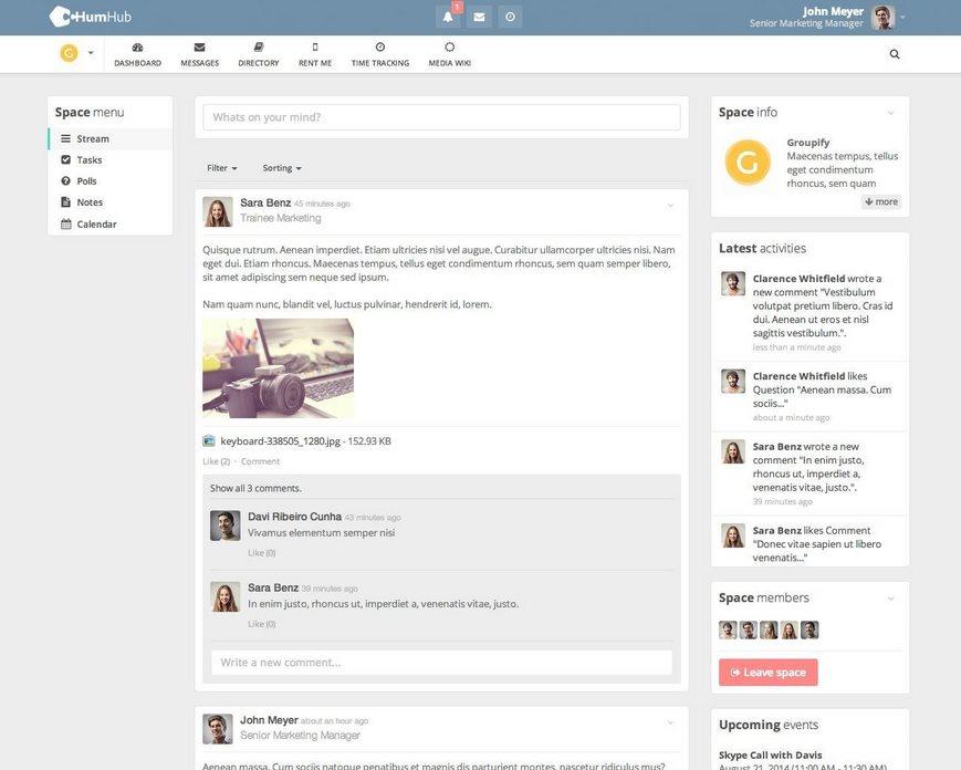 Vorschau HumHub - Social Network Kit - Bild 2