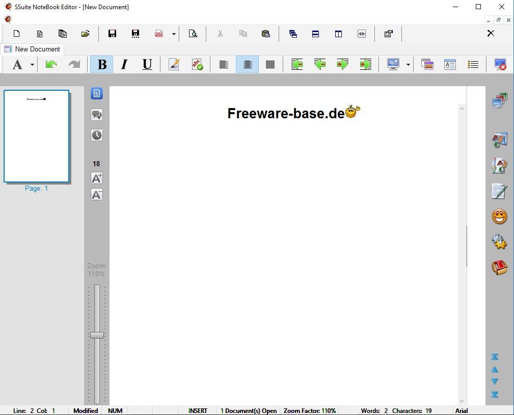 Vorschau SSuite NoteBook Editor - Bild 2