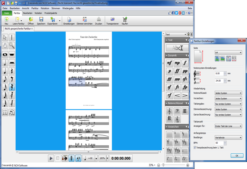 Vorschau Crescendo Notensatz-Editor - Bild 2