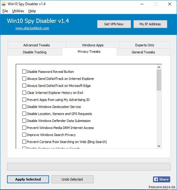 Vorschau Win10 Spy Disabler und Portable - Bild 2