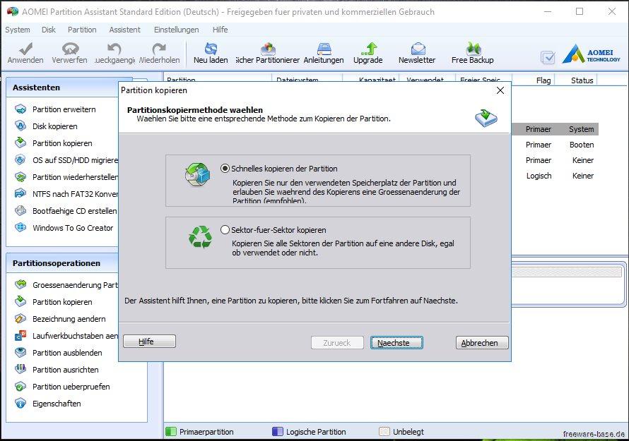 Vorschau AOMEI Partition Assistant Standard Edition - Bild 2