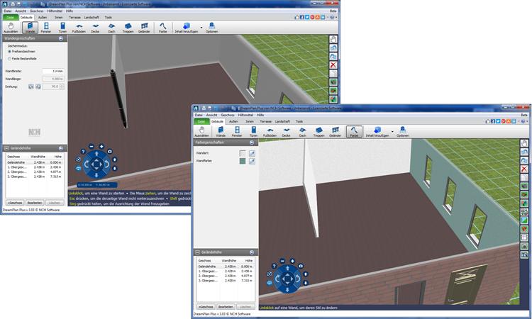 dreamplan raumplaner kostenlos screenshots freeware. Black Bedroom Furniture Sets. Home Design Ideas