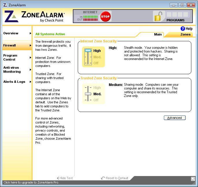 Vorschau ZoneAlarm Free - Bild 2