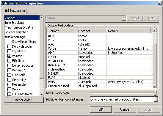 Vorschau FFDShow MPEG-4 Video Decoder - Bild 2