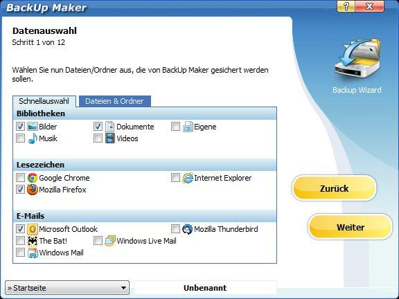 Vorschau BackUp Maker - Bild 3