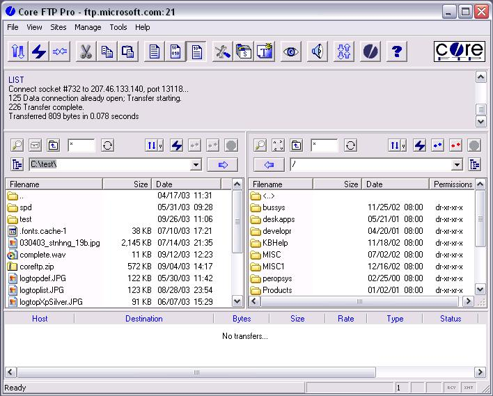 Vorschau Core FTP Lite - Bild 3