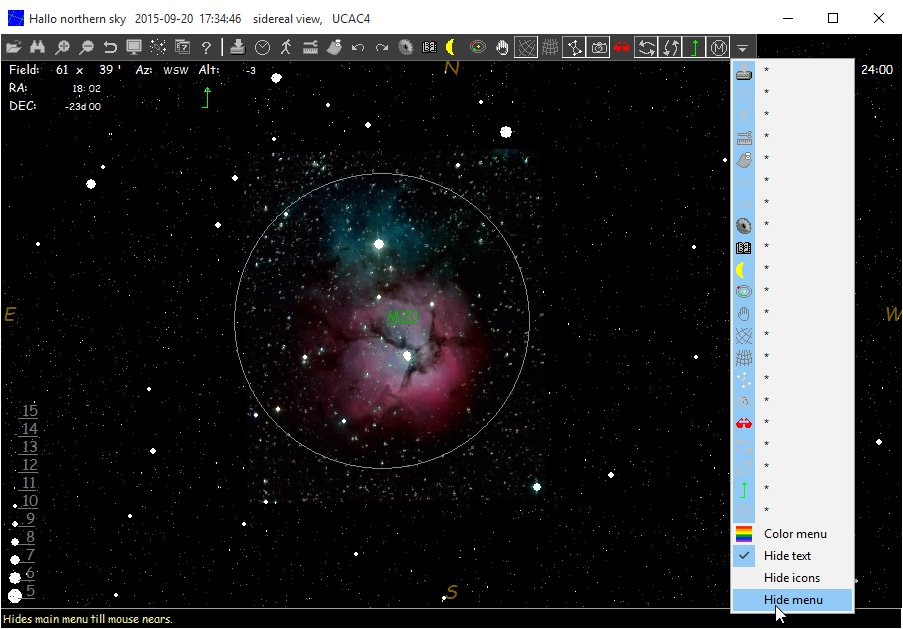 Vorschau HNSKY - Hallo northern sky planetarium program - Bild 3