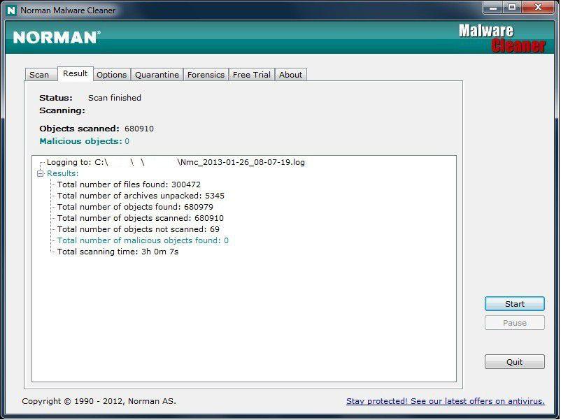 Vorschau Norman Malware Cleaner - Bild 3