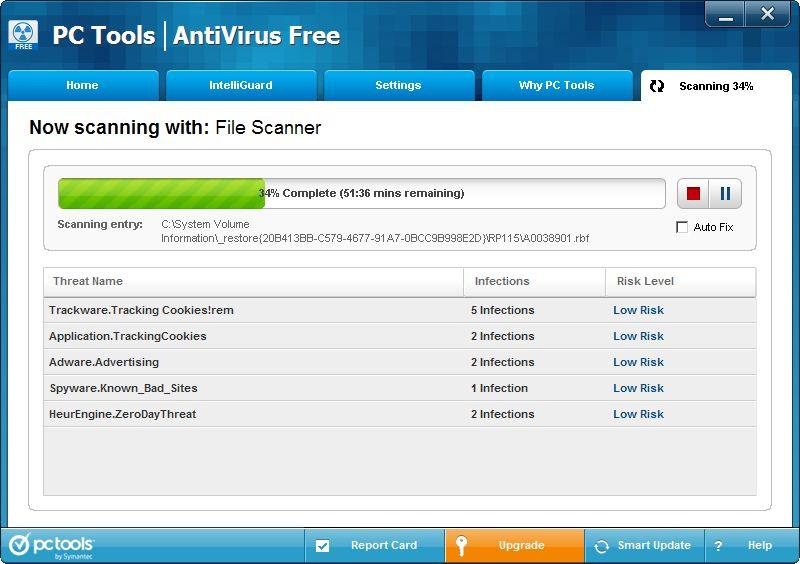 Vorschau PC Tools AntiVirus Free Edition - Bild 3