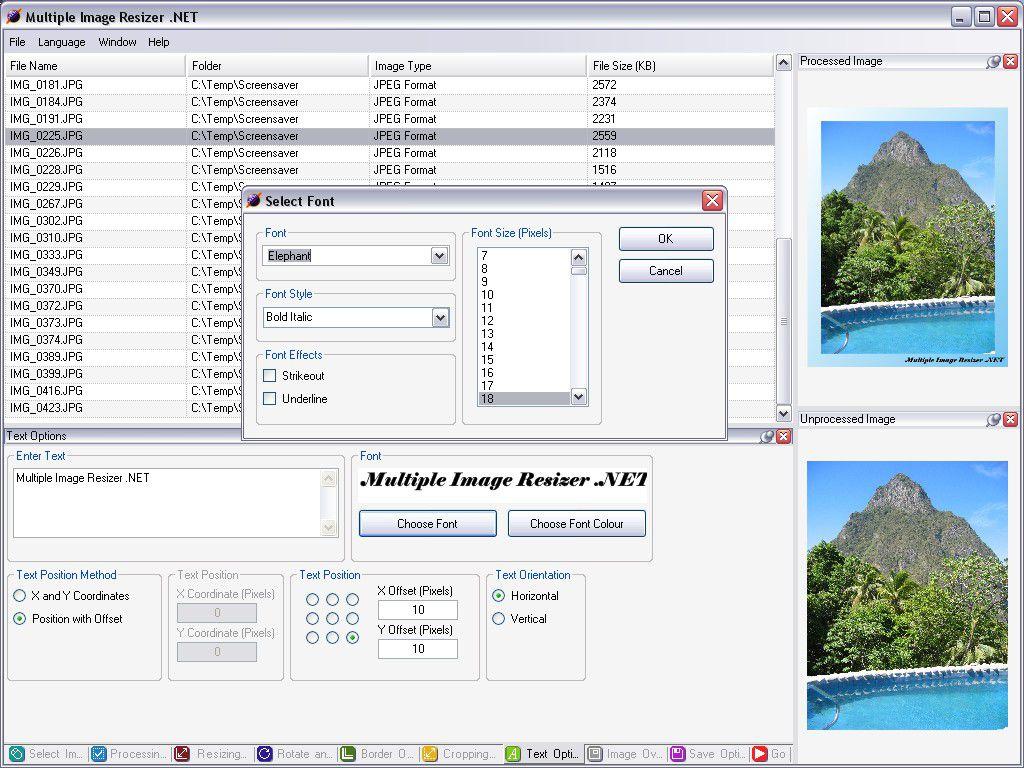 Vorschau Multiple Image Resizer .NET - Bild 3