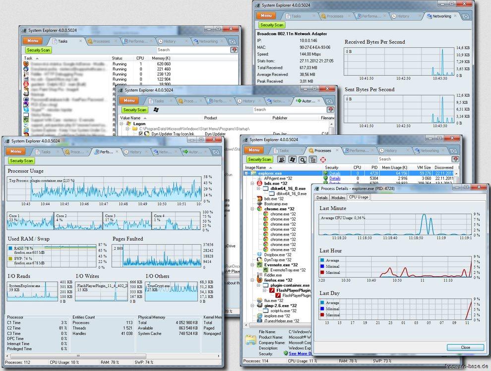 Vorschau System Explorer und Portable Version - Bild 3