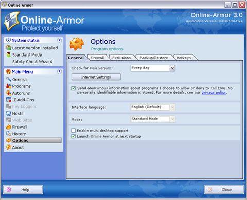 Vorschau Online Armor Free Firewall - Bild 3