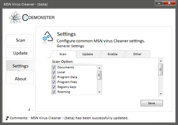 Vorschau MSN Virus Cleaner - Bild 3