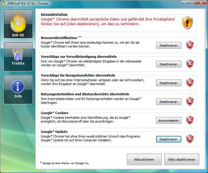 Vorschau Kill-ID fuer Chrome - Bild 3