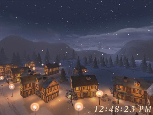 Vorschau Free 3D Christmas Night Screensaver - Bild 3