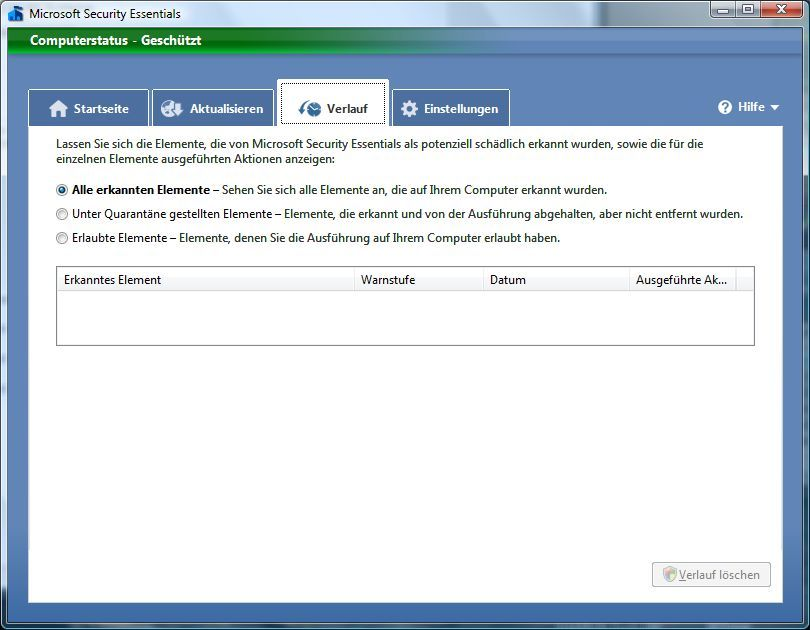 Vorschau Microsoft Security Essentials - Bild 3