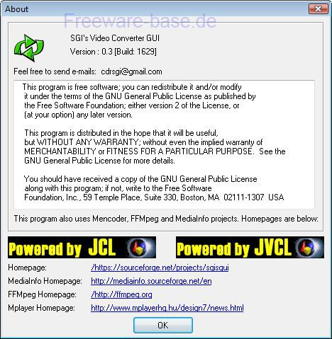 Vorschau SGIs FFMpeg and Mencoder GUI - Bild 3