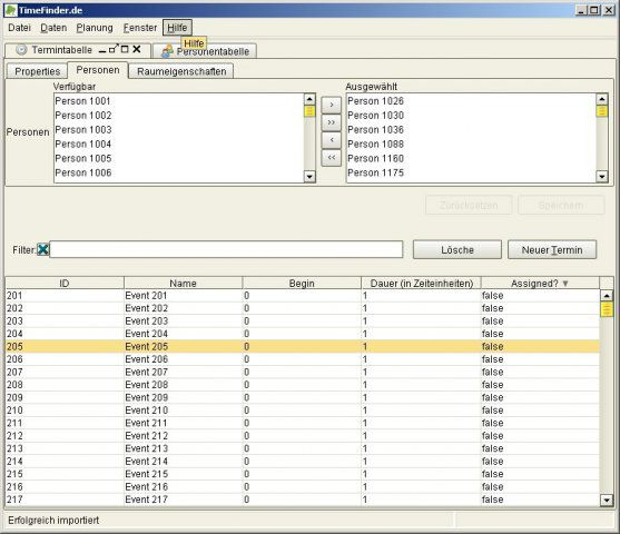 Vorschau TimeFinder - Stundenplan Software - Bild 3
