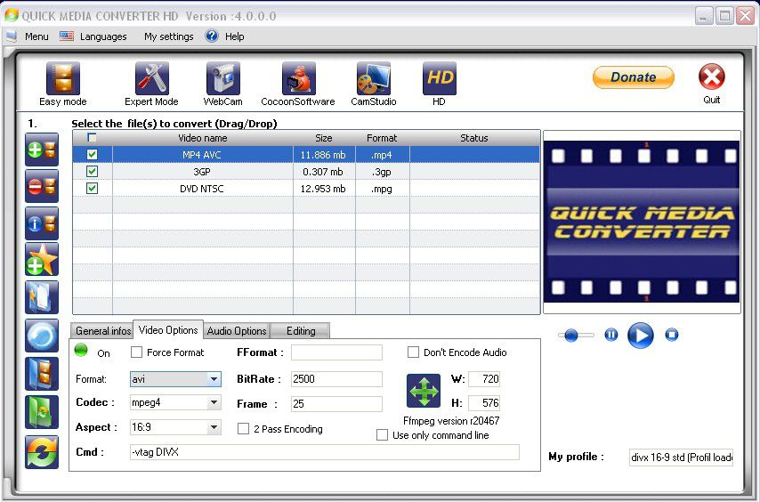 Vorschau Quick Media Converter HD - Bild 3