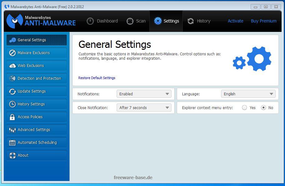 Vorschau Malwarebytes Anti-Malware - Bild 3