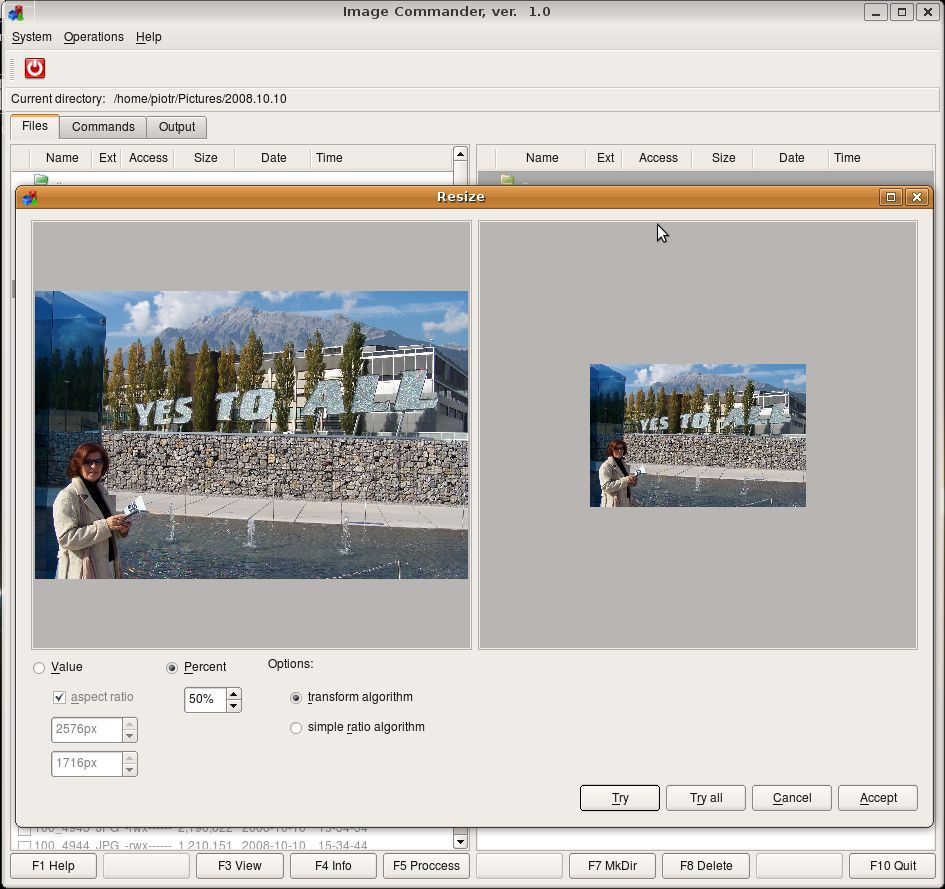 Vorschau Image Commander for Linux - Bild 3