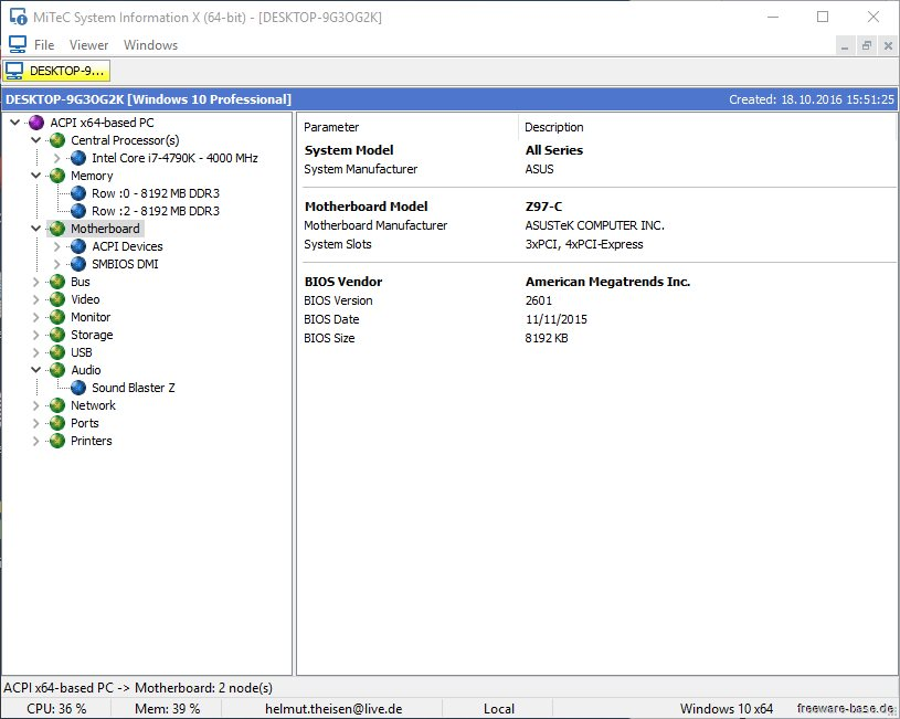 Vorschau MiTeC System Information X - Bild 3