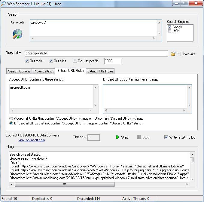 Vorschau Web Searcher - Bild 3