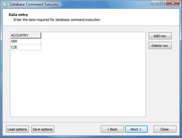 Vorschau Database Command Executor - Bild 3