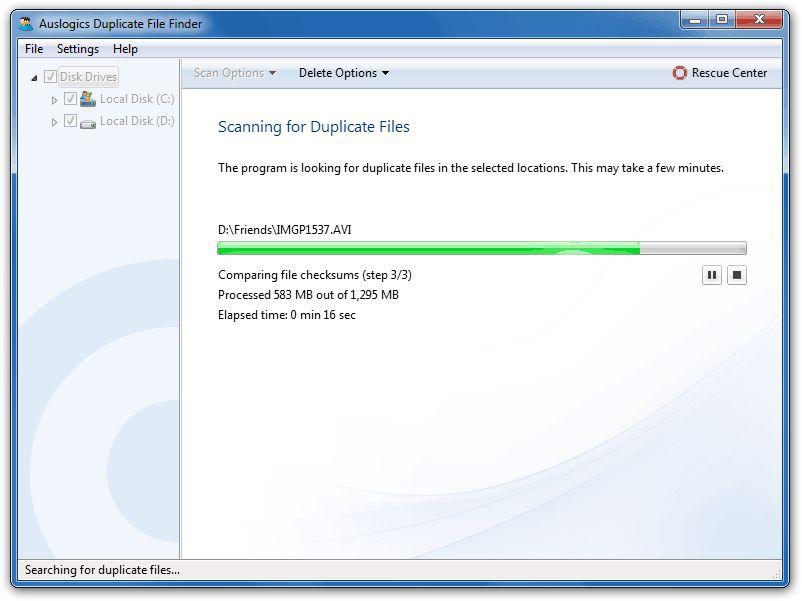 Vorschau Auslogics Duplicate File Finder - Bild 3