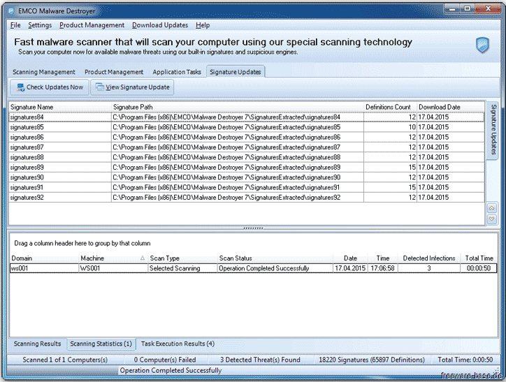 Vorschau EMCO Malware Destroyer - Bild 3