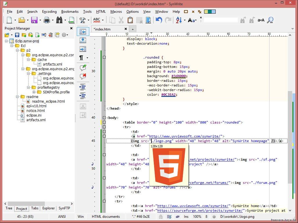 Vorschau SynWrite Editor - Bild 3