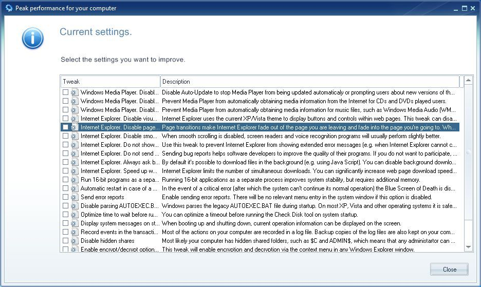 Vorschau Ainvo Tweak Manager - Bild 3