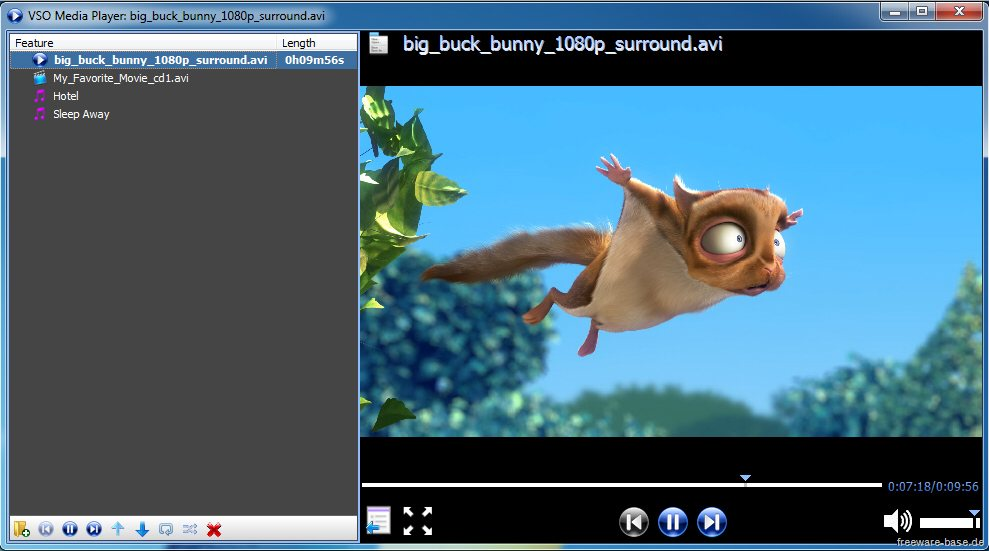 Vorschau VSO Media Player - Bild 3
