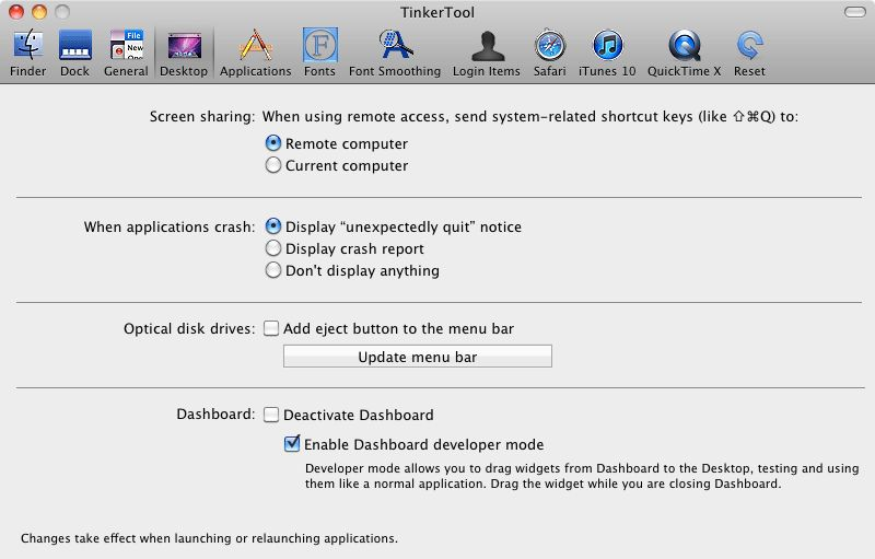 Vorschau Tinkertool for Mac - Bild 3