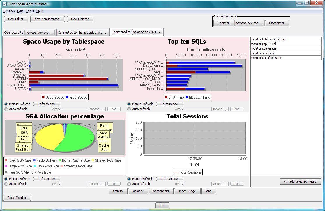 Vorschau Silver Sash Administrator Free for Oracle Database - Bild 3
