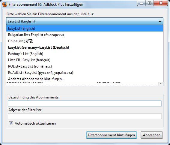 Vorschau Adblock Plus for Firefox - Bild 3