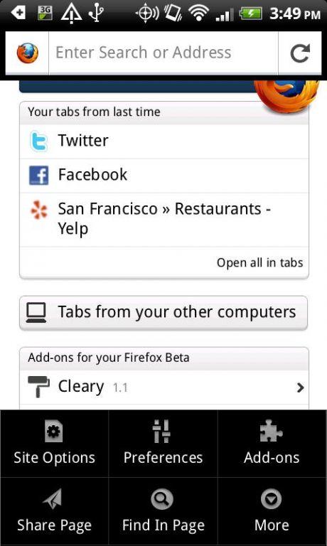Vorschau Mozilla Firefox - Android App - Bild 3