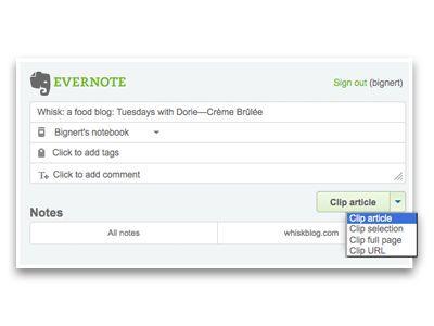 Vorschau Clip to Evernote for Firefox - Bild 3