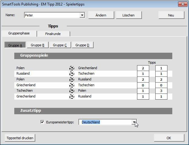 Vorschau SmartTools EM-Tipp 2012 fuer Excel - Bild 3